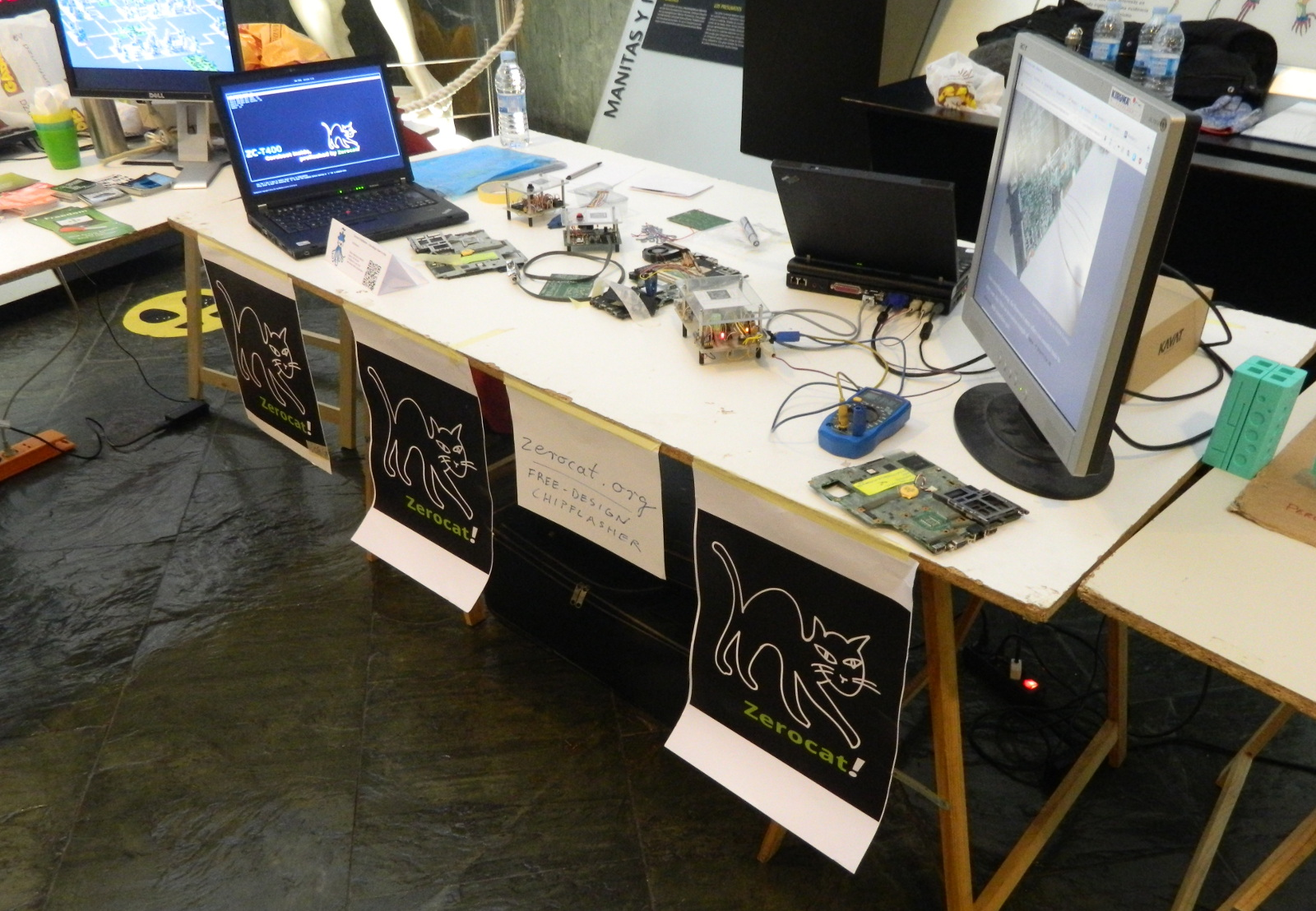Zerocat's Booth on the OSHWDem2017